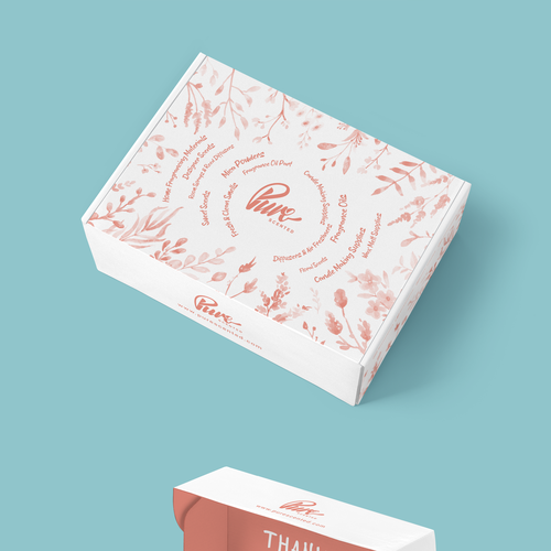 Fragrance design with the title 'Packaging Design'
