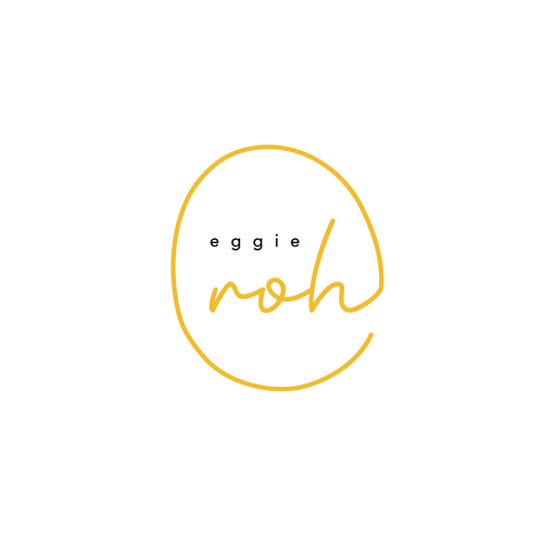 Foodie logo with the title 'Eggie Roh'