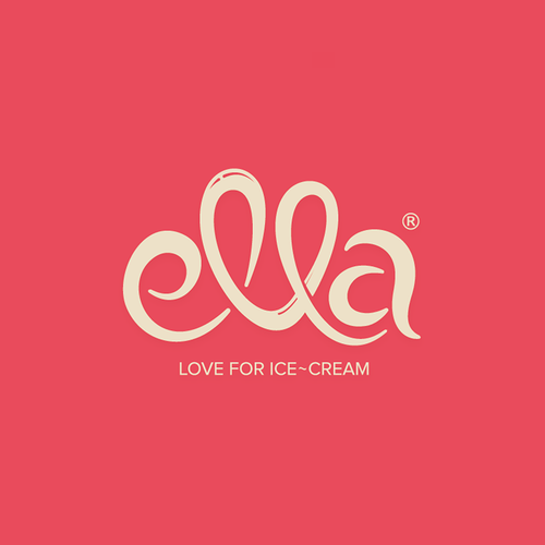 Red brand with the title 'Ella Ice-Cream'
