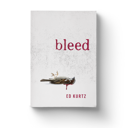 Horror design with the title 'Simple, Crisp, Bloody - Horror Book Cover'