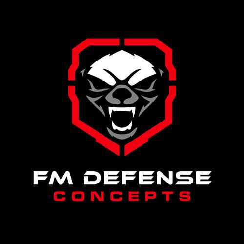 Badger design with the title 'honey badger firearm logo'