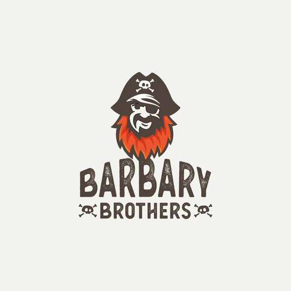 Barbershop logo with the title 'Pirate Barber Logo'