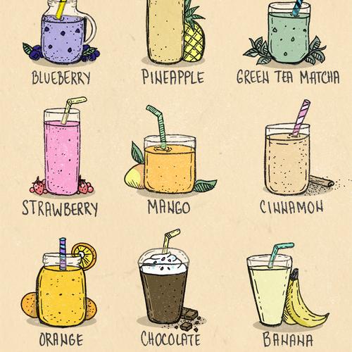 Food illustration with the title 'Menu illustration'