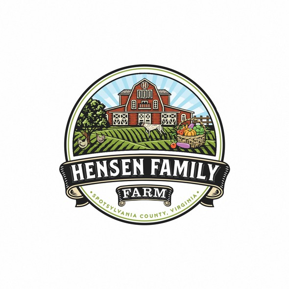 Family crest logo with the title 'Hensen Family'
