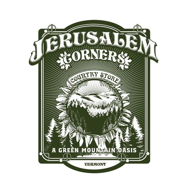 Maple leaf design with the title 'Logo for Jerusalem corners'