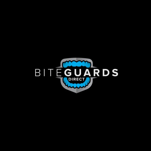 Teeth logo with the title 'Bite guards direct'