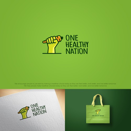 Carrot design with the title 'Example of a logo concept made for a nutrition company'