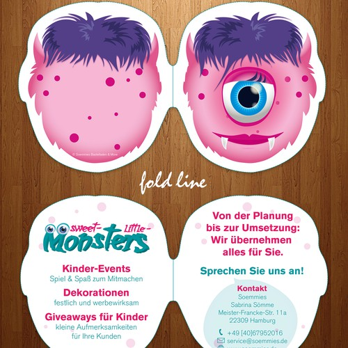 Party design with the title 'Brochure kindergarden design'