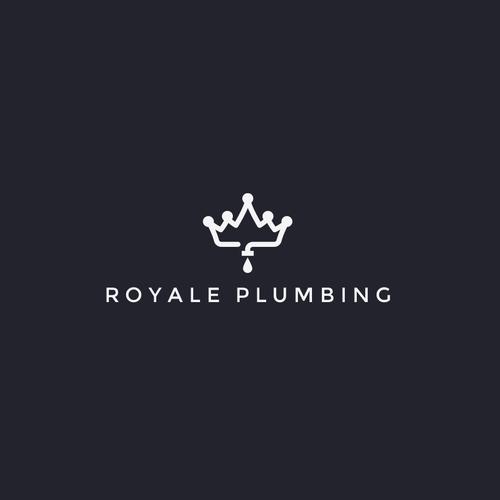 Plumbing logo with the title 'Royale Plumbing'