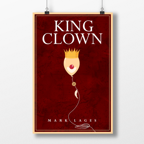 Minimal book cover with the title 'King Clown'
