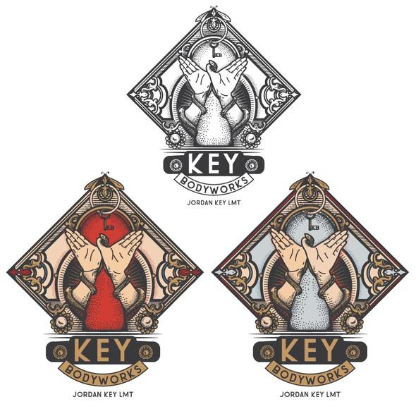 Lock logo with the title 'Key Bodyworks'