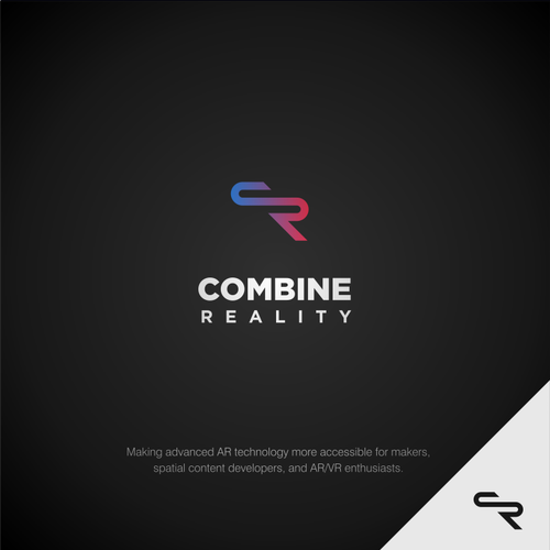 Cyberpunk logo with the title 'Cyberpunk logo concept for Combine Reality'