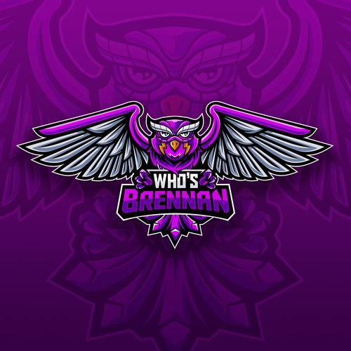 Character logo with the title 'Owl Esport Logo'