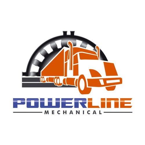 Mechanic logo with the title 'Create a winning logo for Power Line Mechanics'