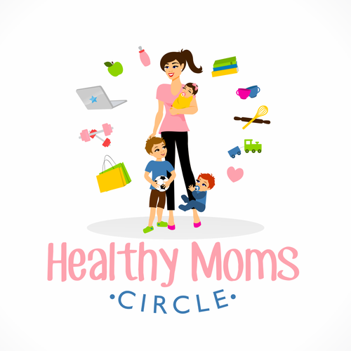 Motherhood logo with the title 'Logo for new Healthy Mom Blog'