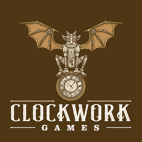 Clock design with the title 'Clockwork Games'