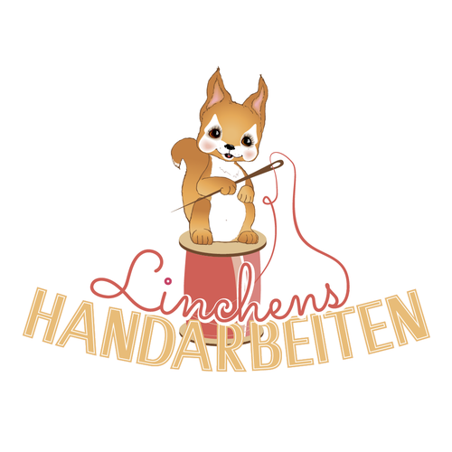 Handcraft logo with the title 'Linchens Handarbeiten'