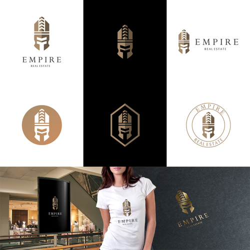 Roman logo with the title 'Logo Design For Empire Real Estate'