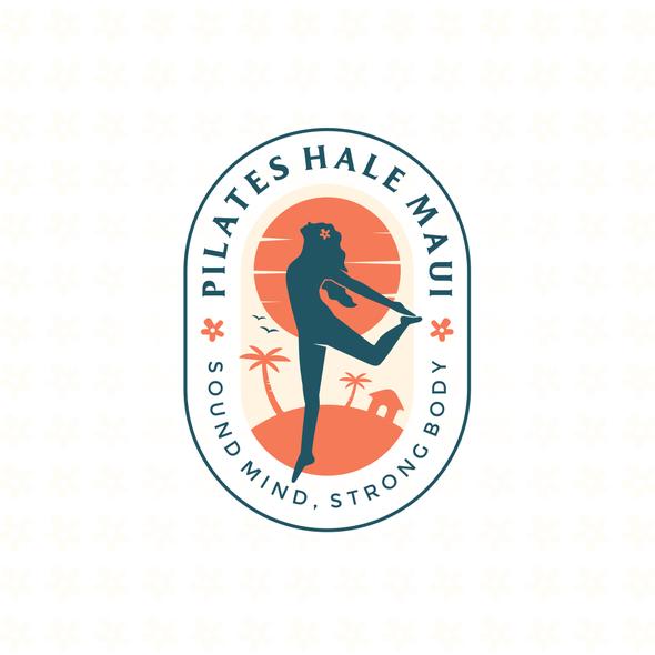 Hawaii logo with the title 'Pilates Hale Maui logo design '