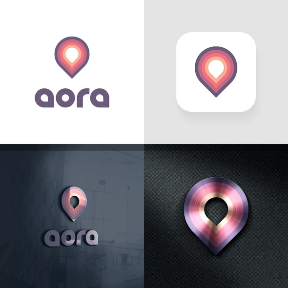 Aura logo with the title 'Logo Design for aora'