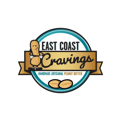 Peanut design with the title 'East Coast Cravings'