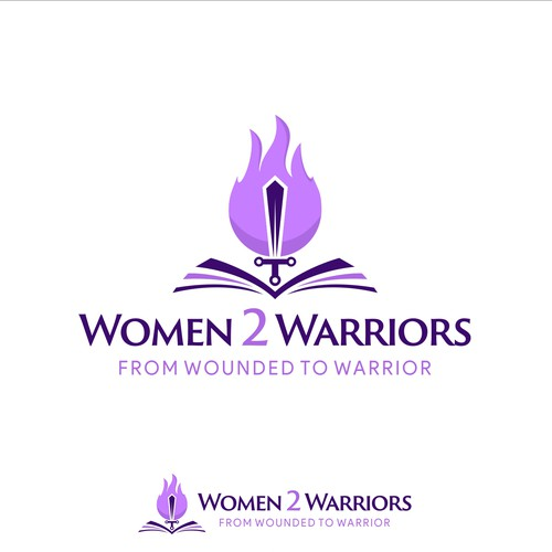 Jesus logo with the title 'Women 2 Warriors'