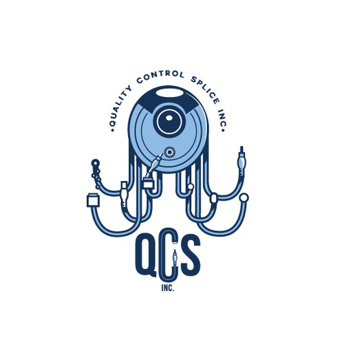 Camera design with the title 'logo for QCSinc'