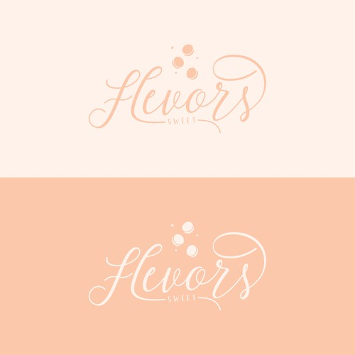 Peach logo with the title 'Flevors Sweet'