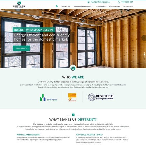 Construction design with the title 'Construction Website Design'