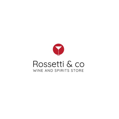 Wine glass logo with the title 'Wine Store Logo'