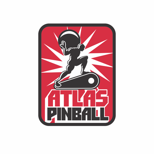 Atlas logo with the title 'Atlas Pinball'