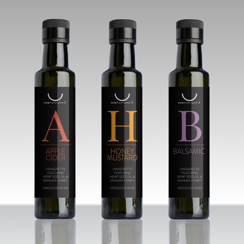 Sophisticated label with the title 'Label design Winner'