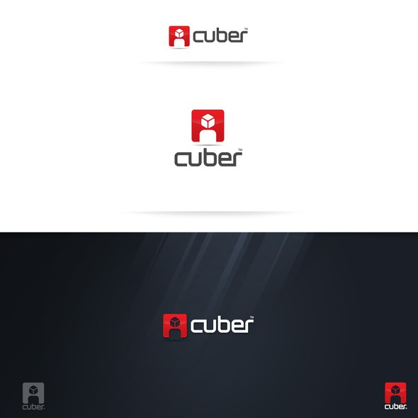 Social logo with the title 'Cuber logo design'