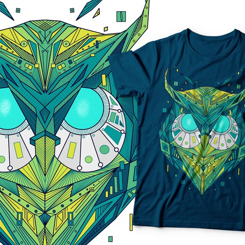 Neon design with the title 'Owl'