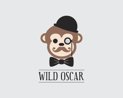Bow tie design with the title 'Logo for Wild Oscar - a shop for the contemporary gentleman'
