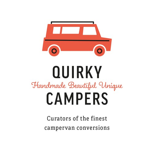 British design with the title 'Logo Design for Quirky Campers'