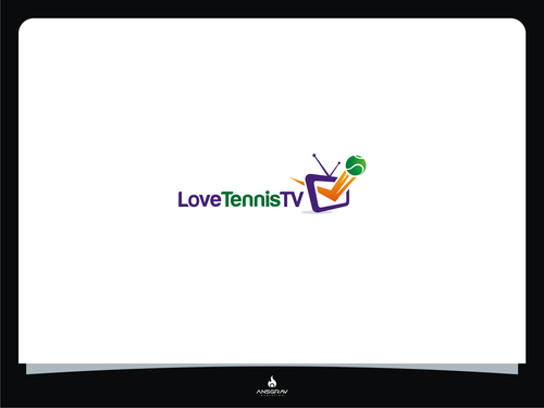 Tennis logo with the title 'Help Love Tennis TV with a new logo'
