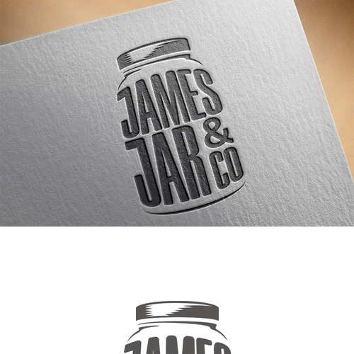 Jar design with the title 'Logo Concept for Food in a Jar'