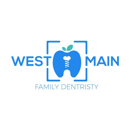 Screw design with the title 'West Main Family Dentristy'