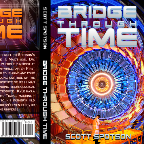Science-fiction book cover with the title 'Book Cover for Sci-Fi, Time Travel Story'