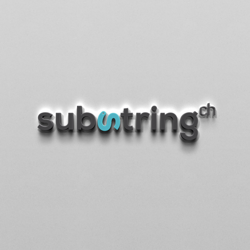 Software brand with the title 'Corporate Identity for substring.ch'