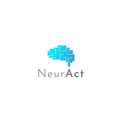 Neurologist logo with the title 'NeurAct Logo Design'