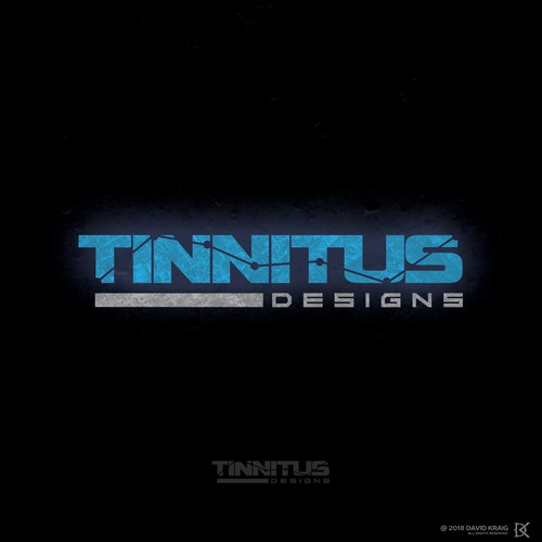 Luminous logo with the title 'TINNITUS DESIGN'