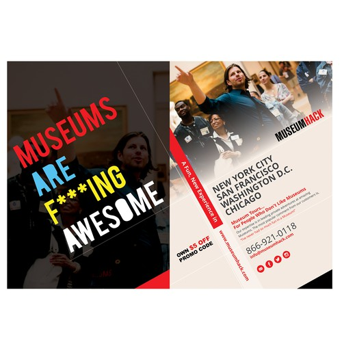 Museum design with the title 'Flyer for a Museum Tour'