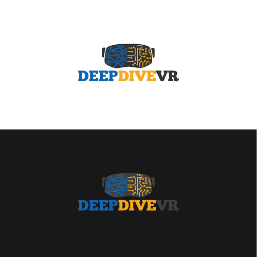 Circuit logo with the title 'Cool logo for Deep Dive VR'