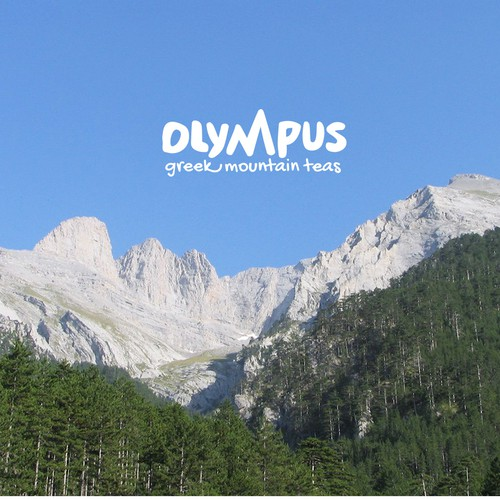 Greek design with the title 'Logo design for Olympus - Greek Mountains Tea'