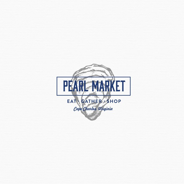 Culinary logo with the title 'PEARL MARKET'