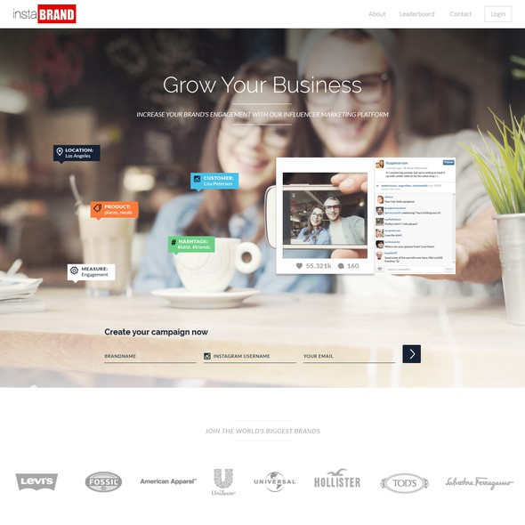 Advertising website with the title 'Homepage Redesign'