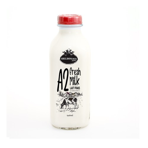 Milk packaging with the title ' FRESH MILK Packaging Design'