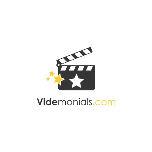 Testimonials design with the title 'Clapper logo concept for VideMonials'